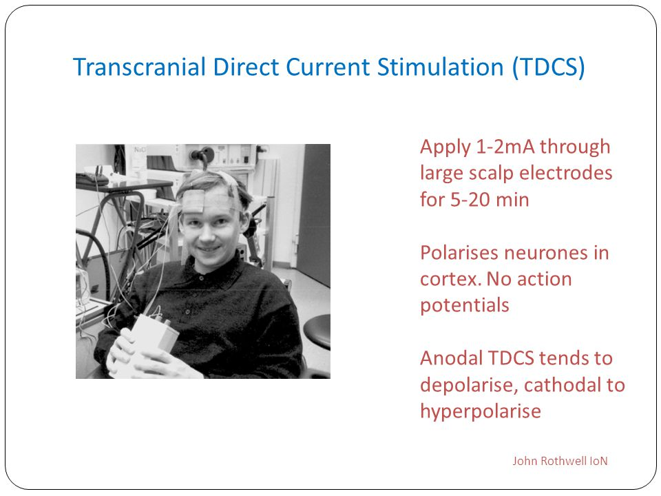 Transcranial Direct Current Stimulation (TDCS)