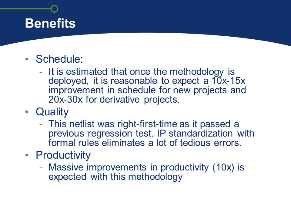 Benefits Schedule: Quality Productivity