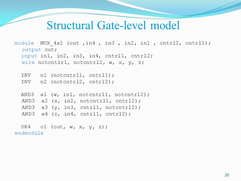 Structural Gate-level model