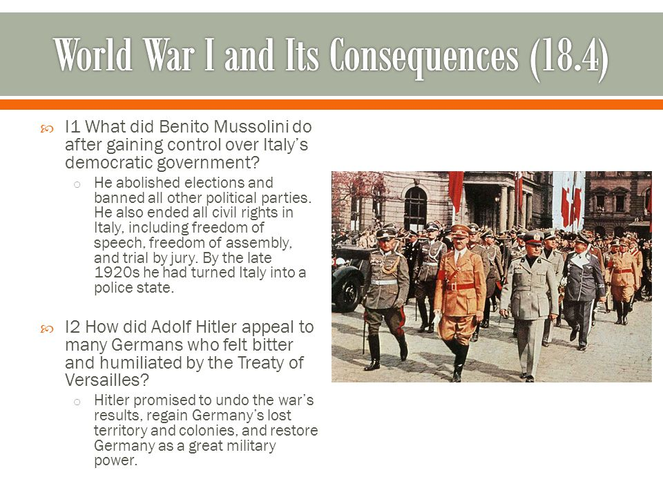 World War I and Its Consequences (18.4)