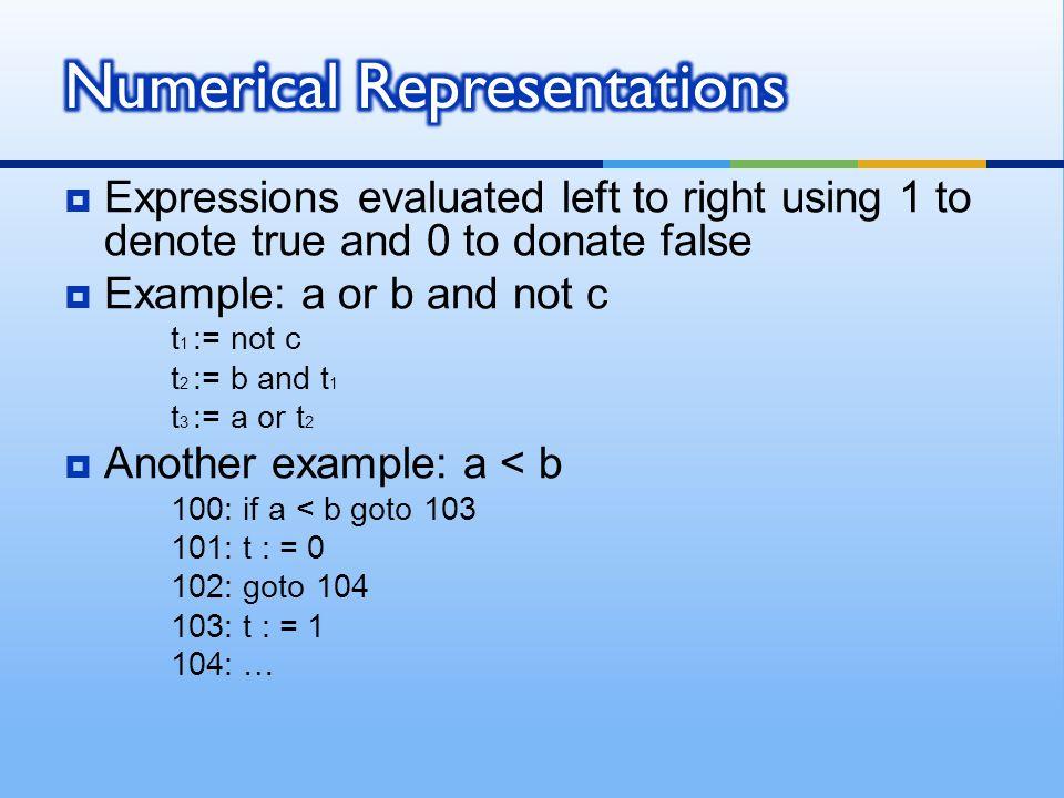Numerical Representations