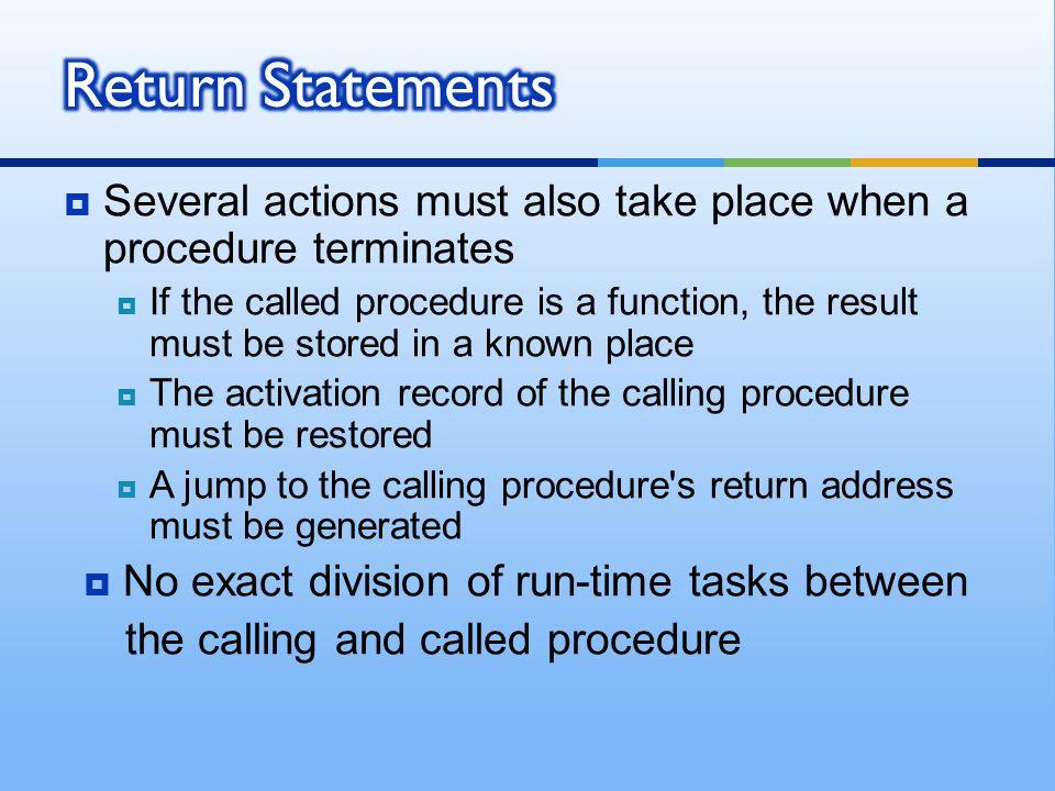 No exact division of run-time tasks between