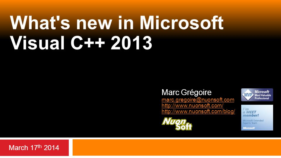 What s new in Microsoft Visual C++ 2013