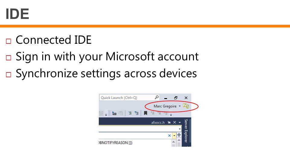 IDE Connected IDE Sign in with your Microsoft account