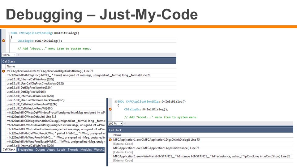 Debugging – Just-My-Code