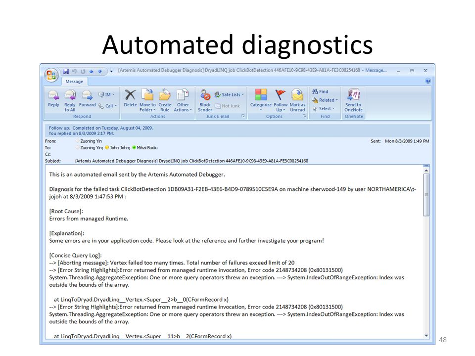 Automated diagnostics
