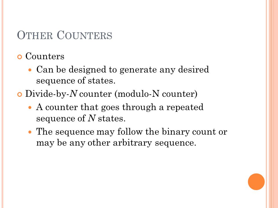 Other Counters Counters
