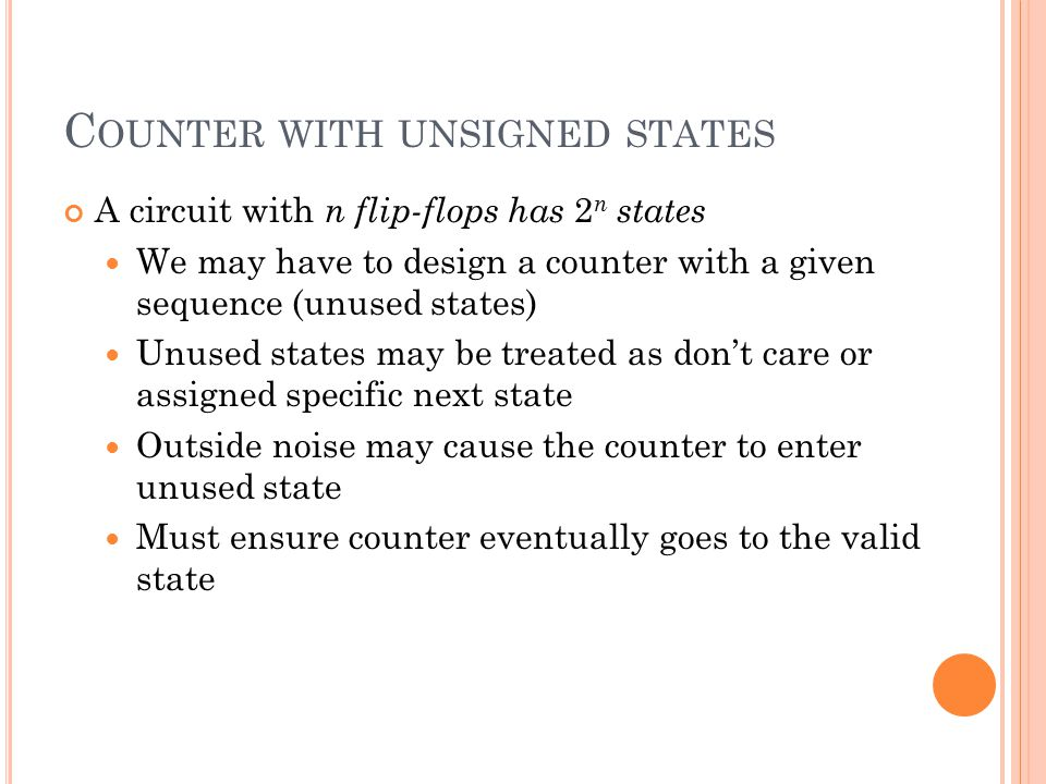 Counter with unsigned states