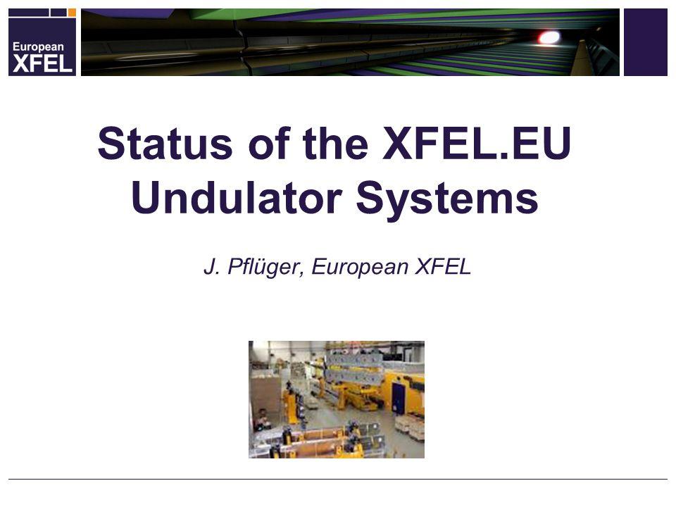 Status of the XFEL.EU Undulator Systems