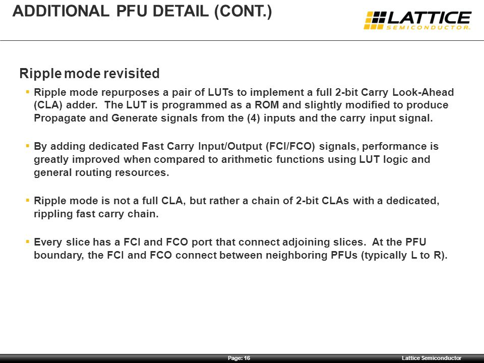 Additional pfu detail (cont.)