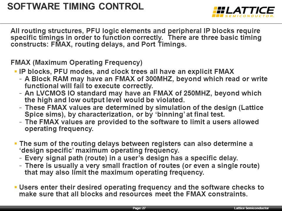 Software timing control