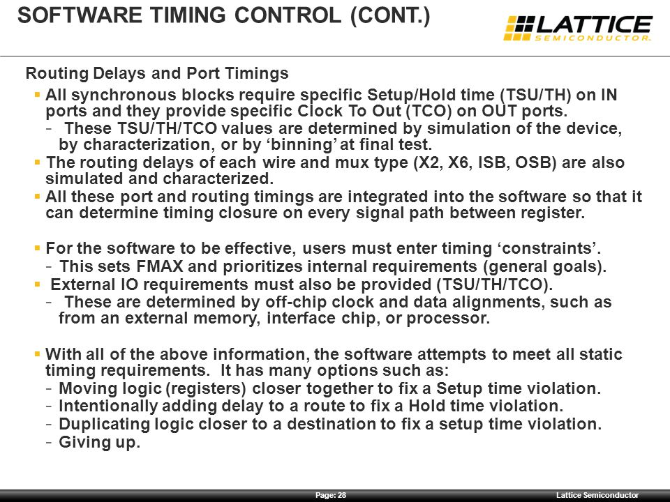 Software timing control (cont.)