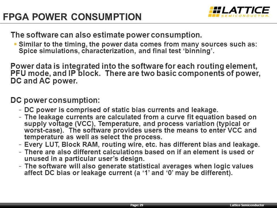 FPGA Power CONSUMPTION