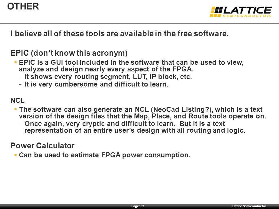 OTHER I believe all of these tools are available in the free software.