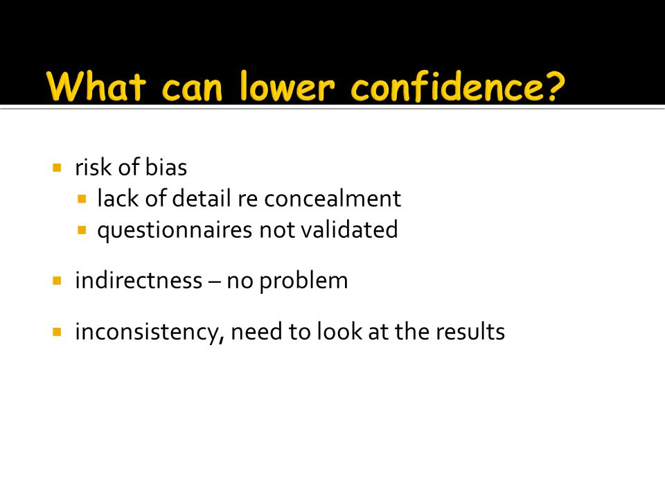What can lower confidence