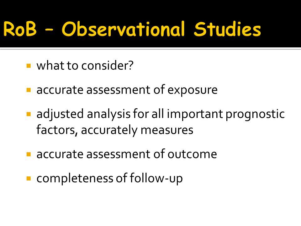 RoB – Observational Studies