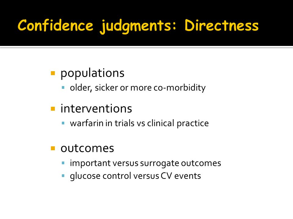 Confidence judgments: Directness
