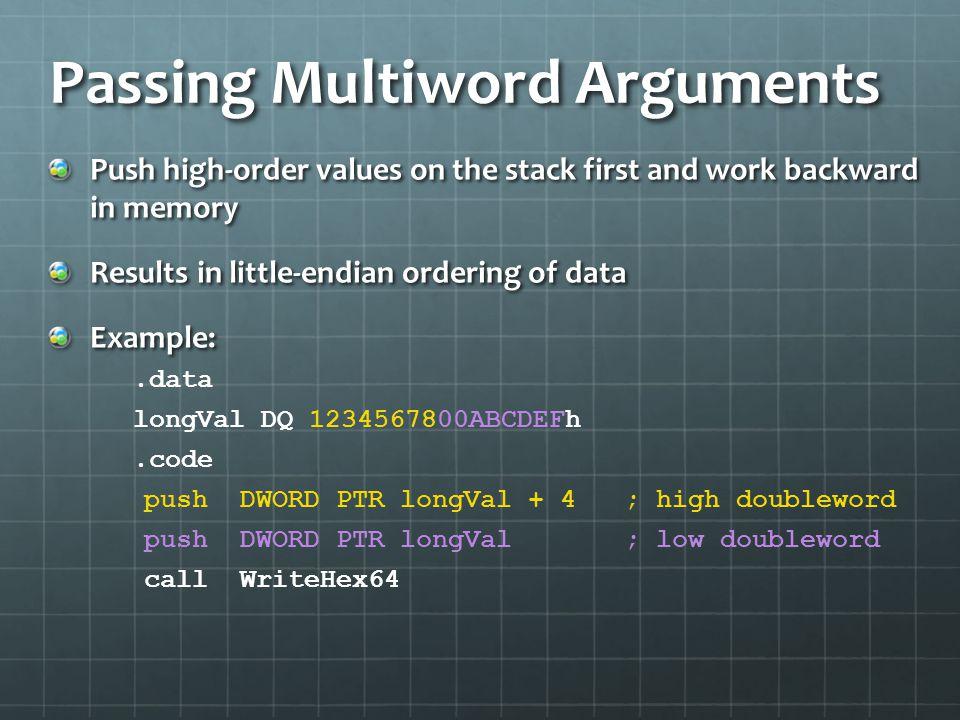 Passing Multiword Arguments