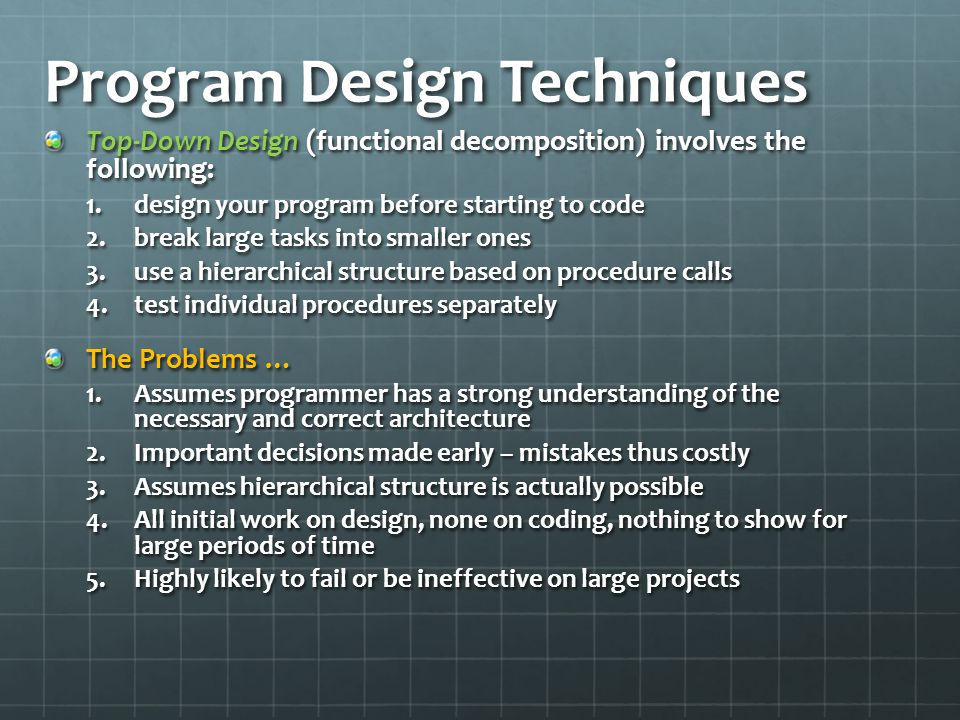 Program Design Techniques
