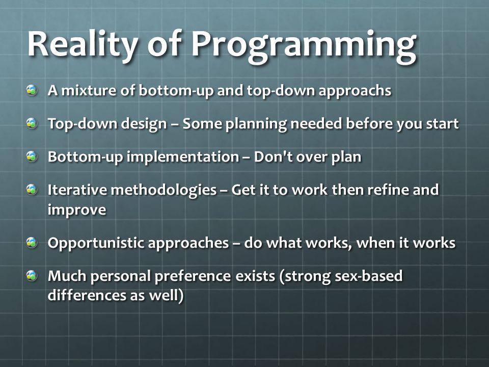 Reality of Programming