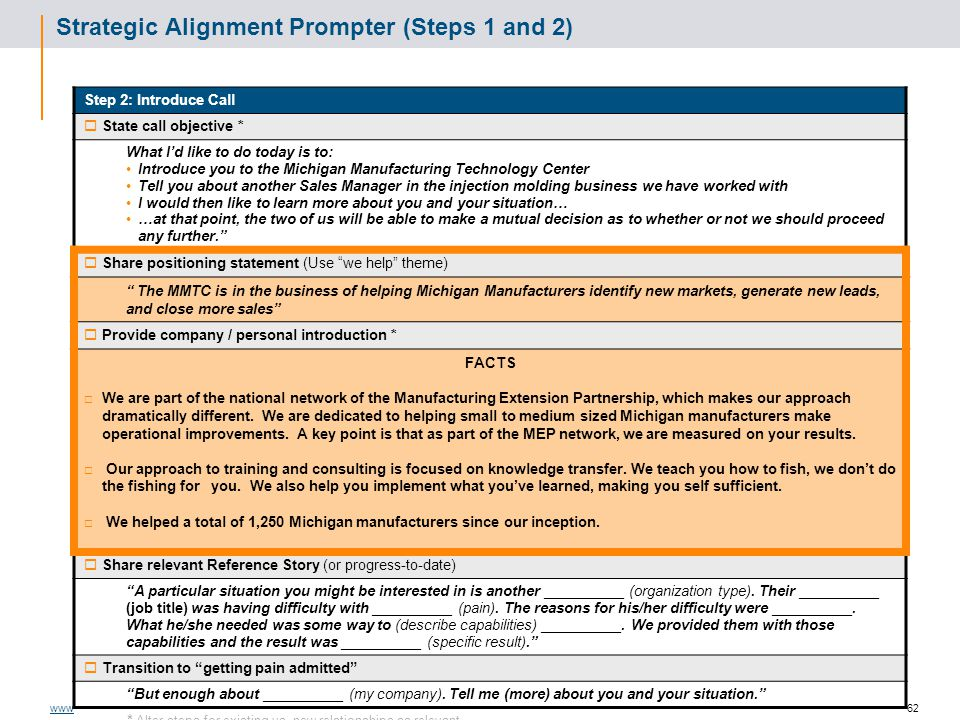 Strategic Alignment Prompter (Steps 1 and 2)