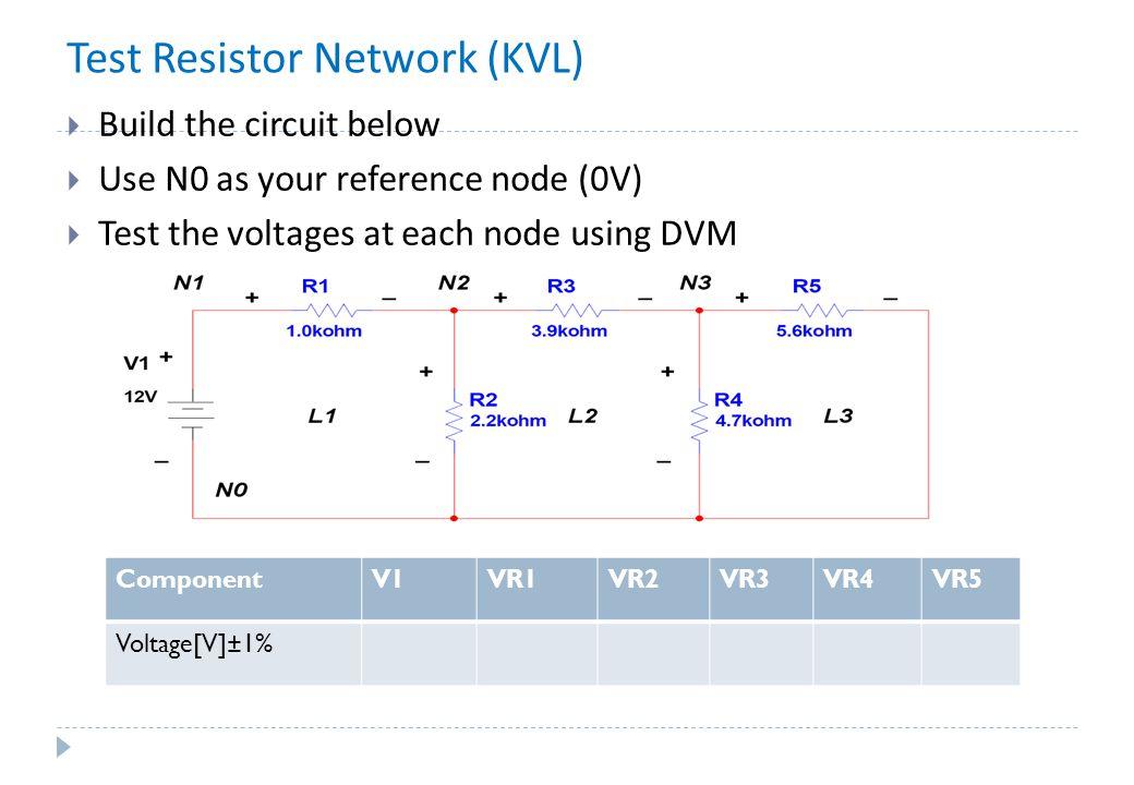 Test Resistor Network (KVL)
