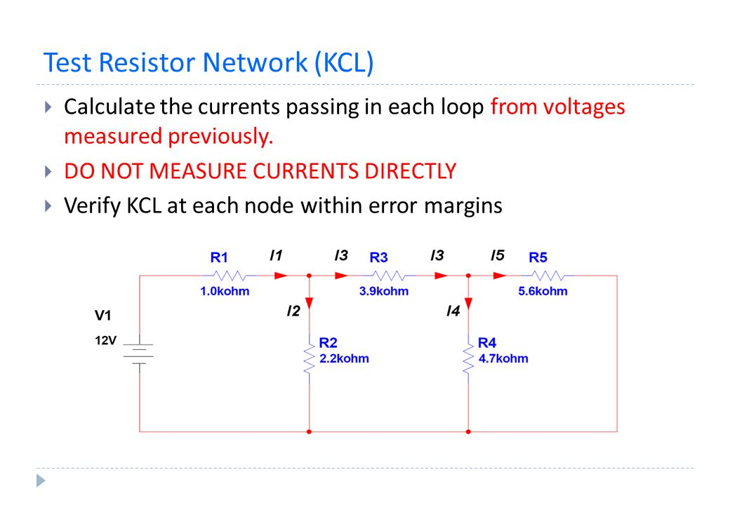 Test Resistor Network (KCL)