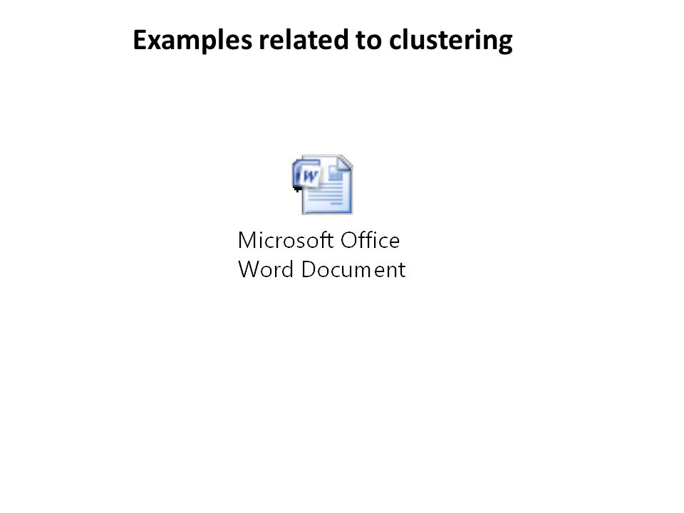 Examples related to clustering