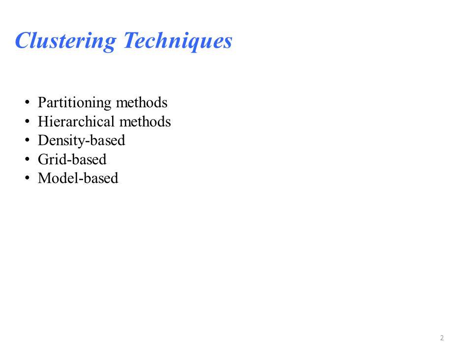 Clustering Techniques