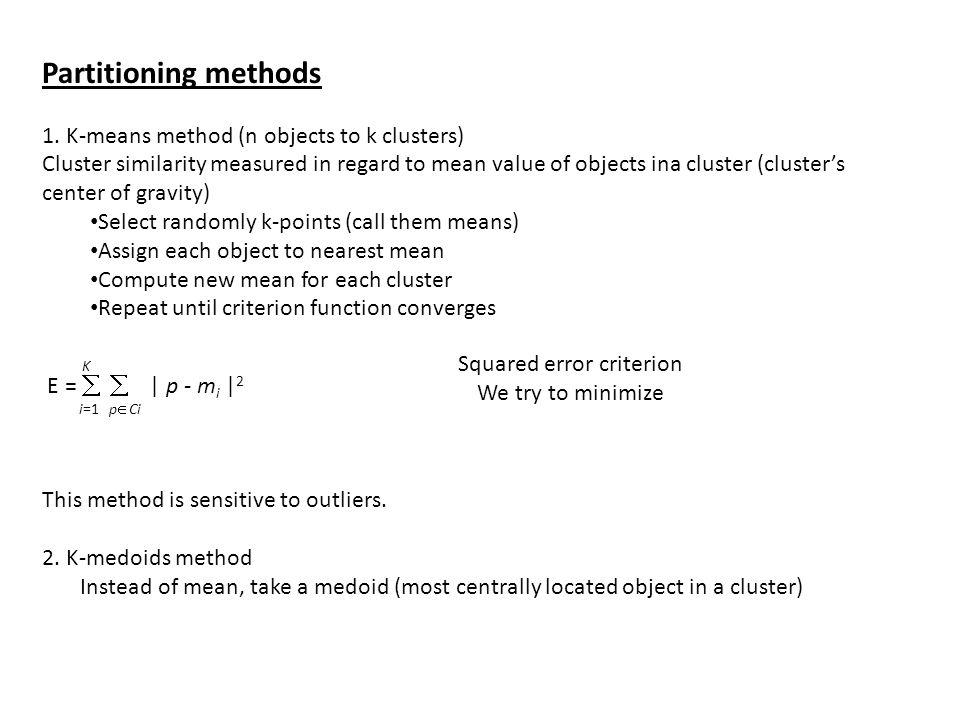 Squared error criterion