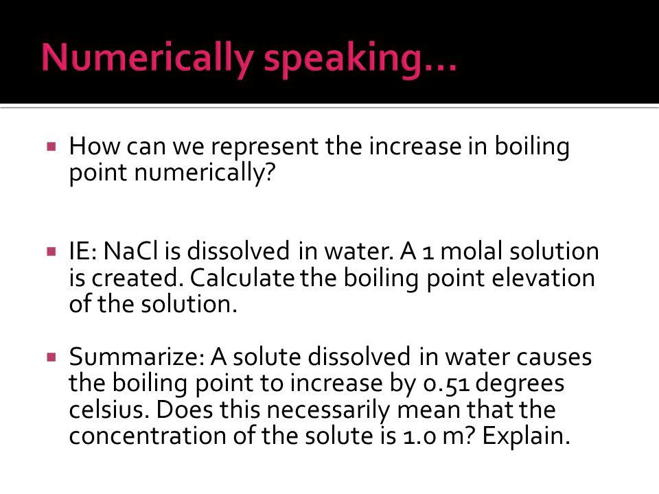 Numerically speaking…