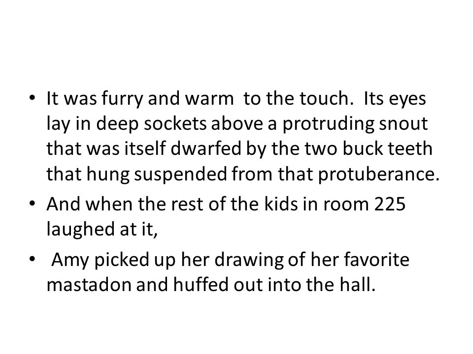 It was furry and warm to the touch