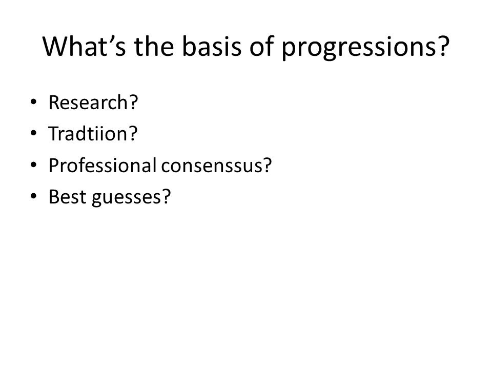 What's the basis of progressions