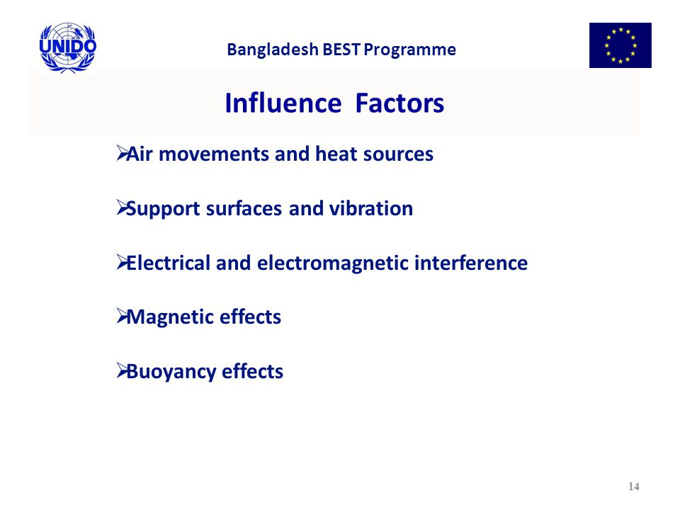 Influence Factors Air movements and heat sources