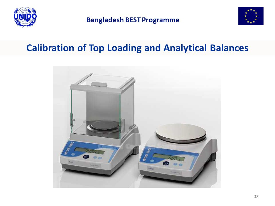 Calibration of Top Loading and Analytical Balances