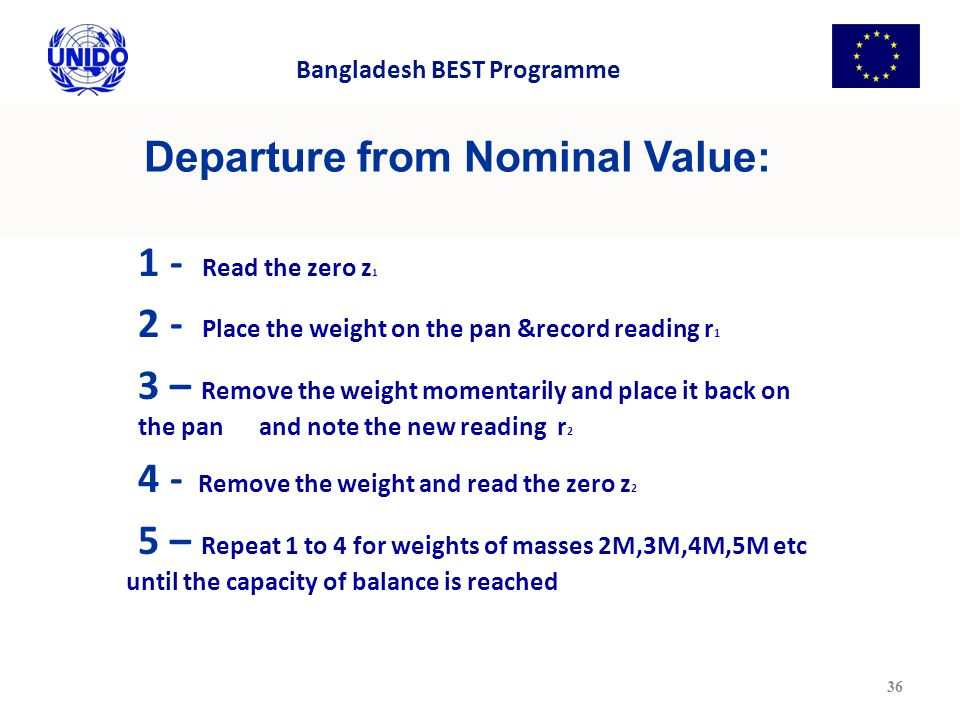 Departure from Nominal Value: