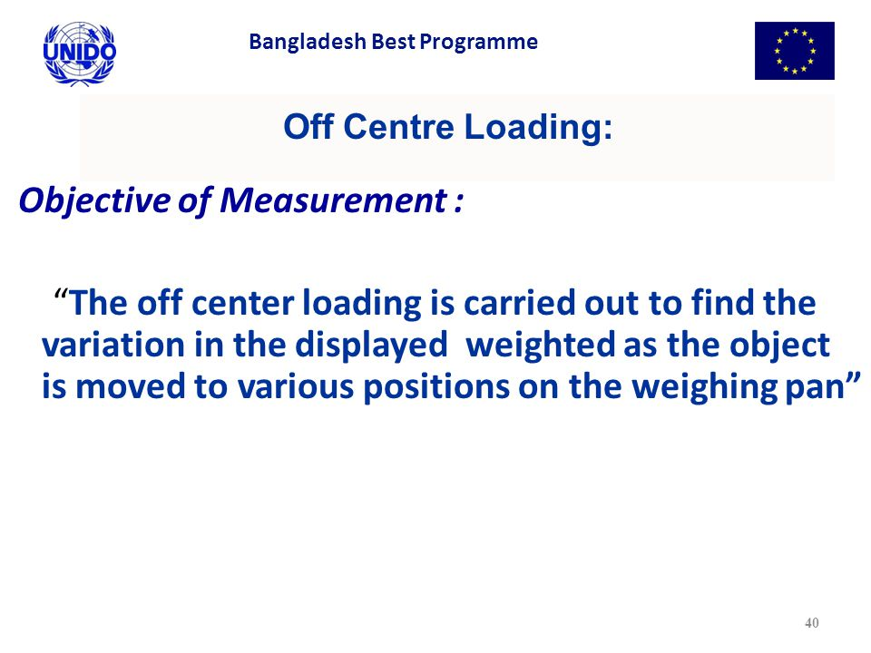Objective of Measurement :