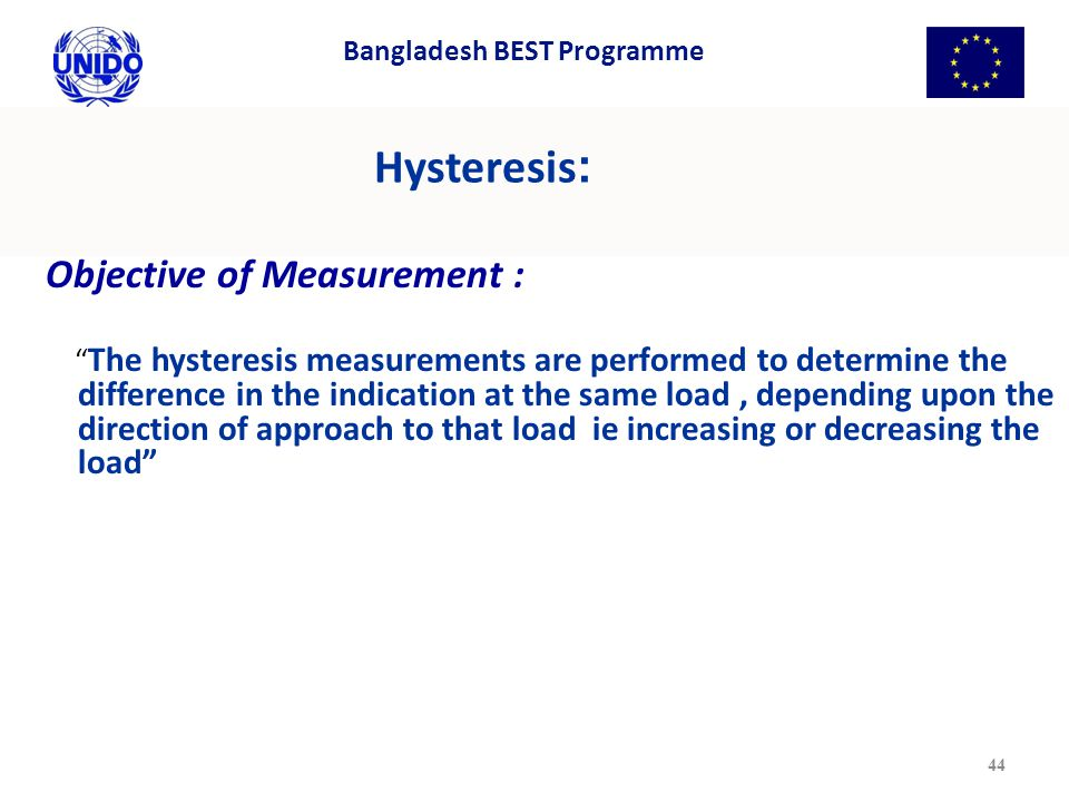 Hysteresis: Objective of Measurement :