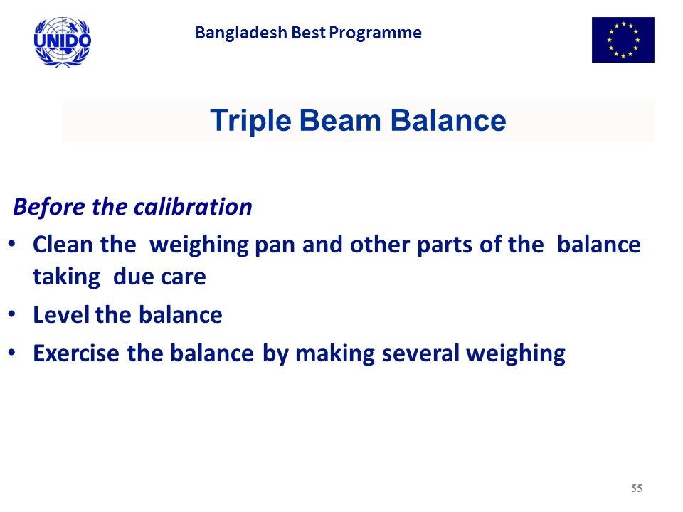Triple Beam Balance Before the calibration