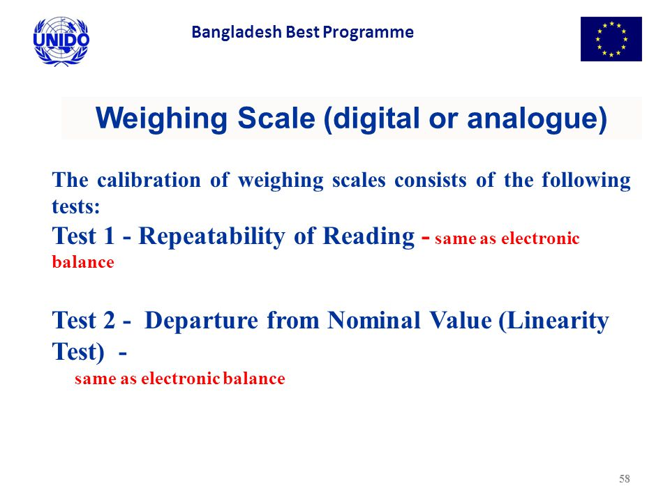 Weighing Scale (digital or analogue)