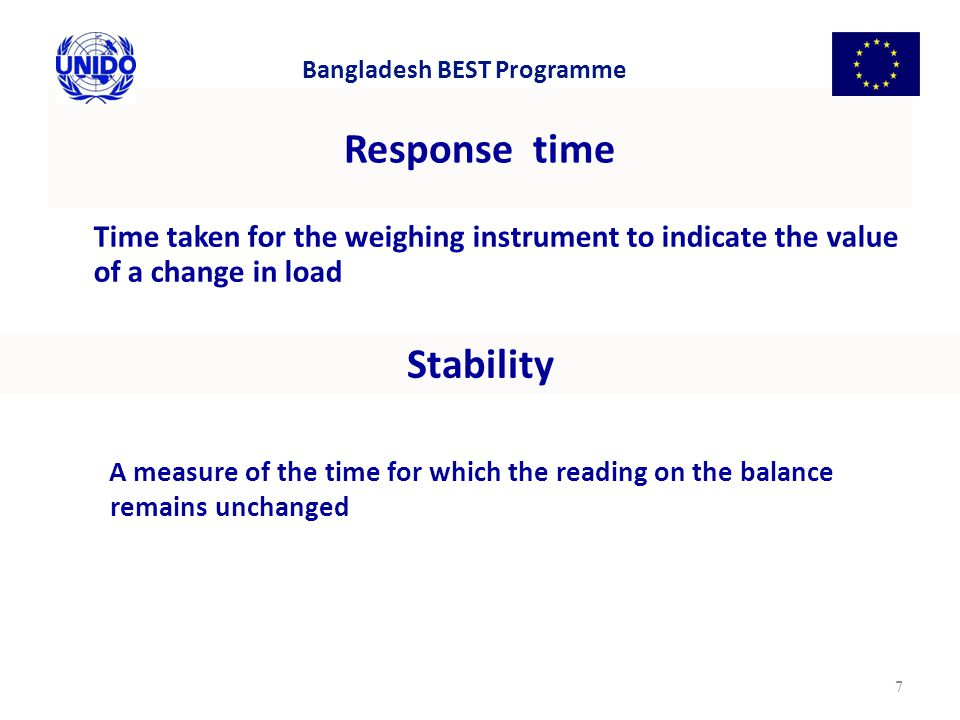 Response time Stability