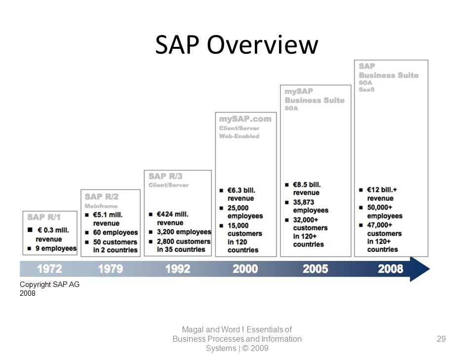 SAP Overview Copyright SAP AG 2008. Magal and Word .