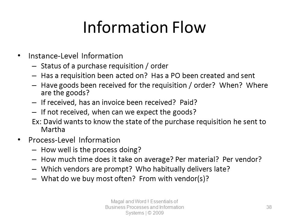 Information Flow Instance-Level Information Process-Level Information