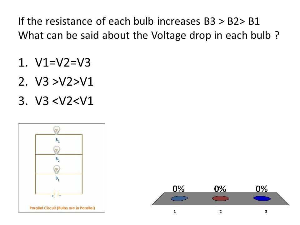 V1=V2=V3 V3 >V2>V1 V3 <V2<V1