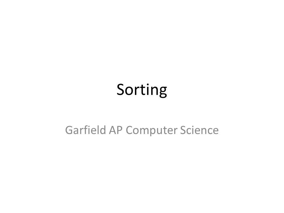 Garfield AP Computer Science