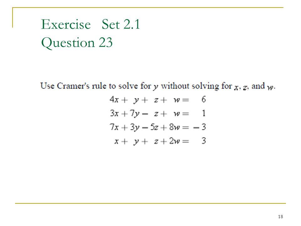 Exercise Set 2.1 Question 23