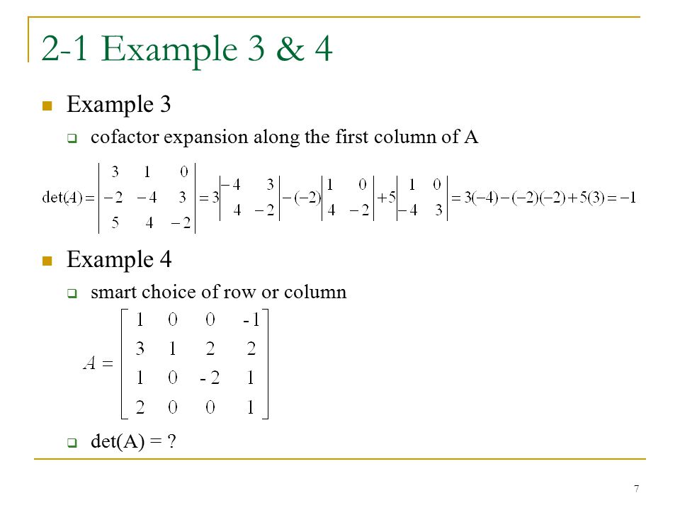 2-1 Example 3 & 4 Example 3 Example 4