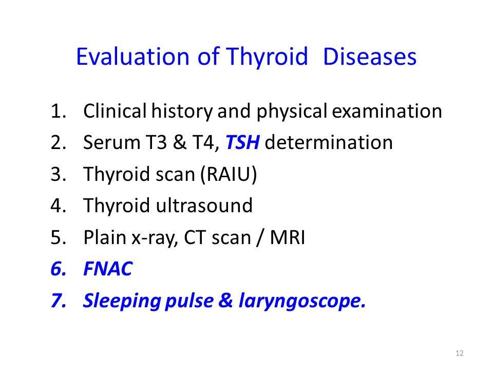 Evaluation of Thyroid Diseases