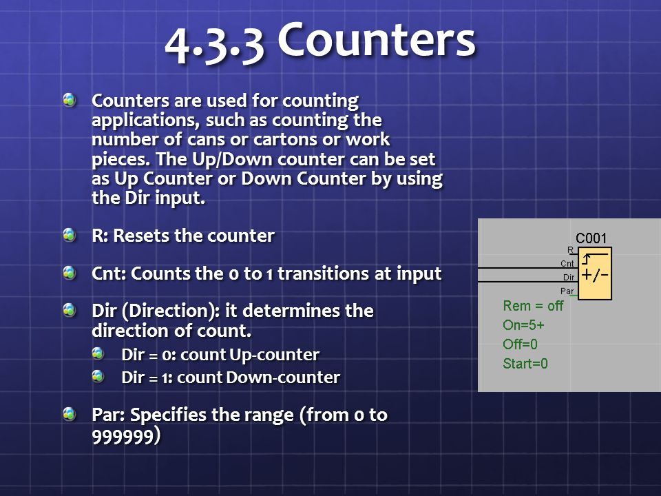 4.3.3 Counters