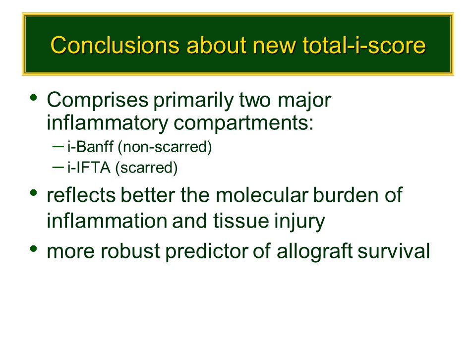 Conclusions about new total-i-score